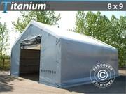 Storage shelter 8x9x3x5 Titanium